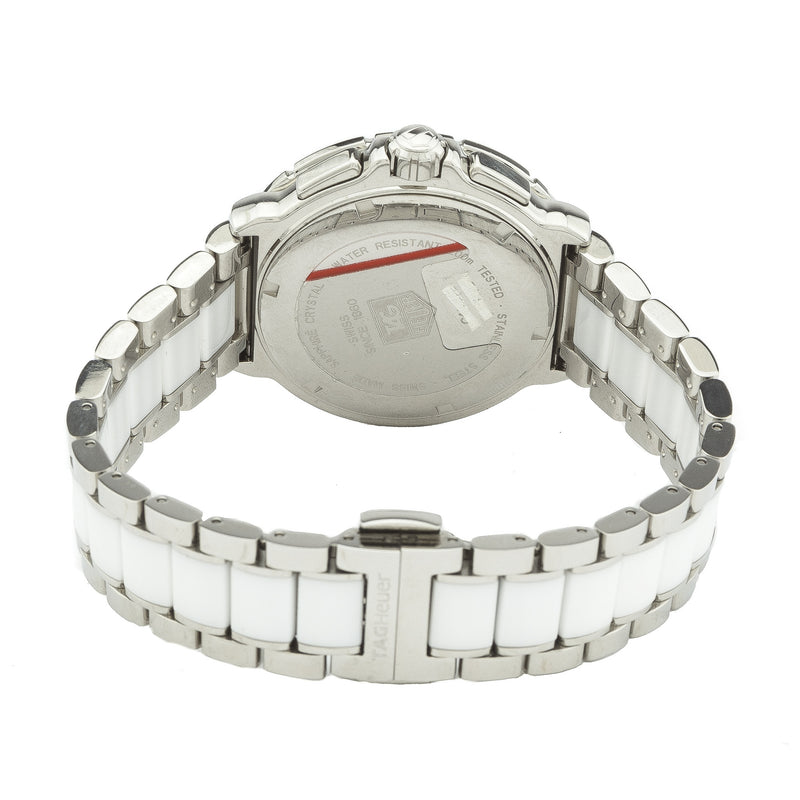 Tag Heuer  Formula 1 Diamond Automatic Steel and White Ceramic Ladies Watch (New with Tags)