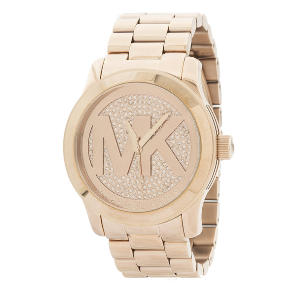 Michael Kors Rose Gold-Tone Runway Stainless Steel Watch (New with Tags)