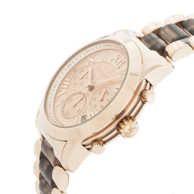 Michael Kors Rose Gold-Tone tortoise Cooper Watch  (New with Tags)