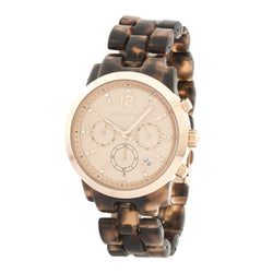 Michael Kors Tortoise Rose Gold-Tone Audrina Chronograph Watch (New with Tags)