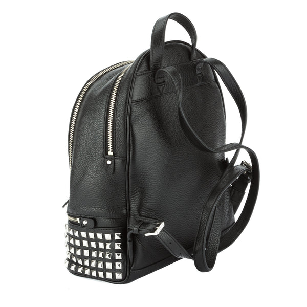 1bba5e29b4ce ... Michael Kors Black Rhea Small Studded Leather Backpack (New with Tags)  ...