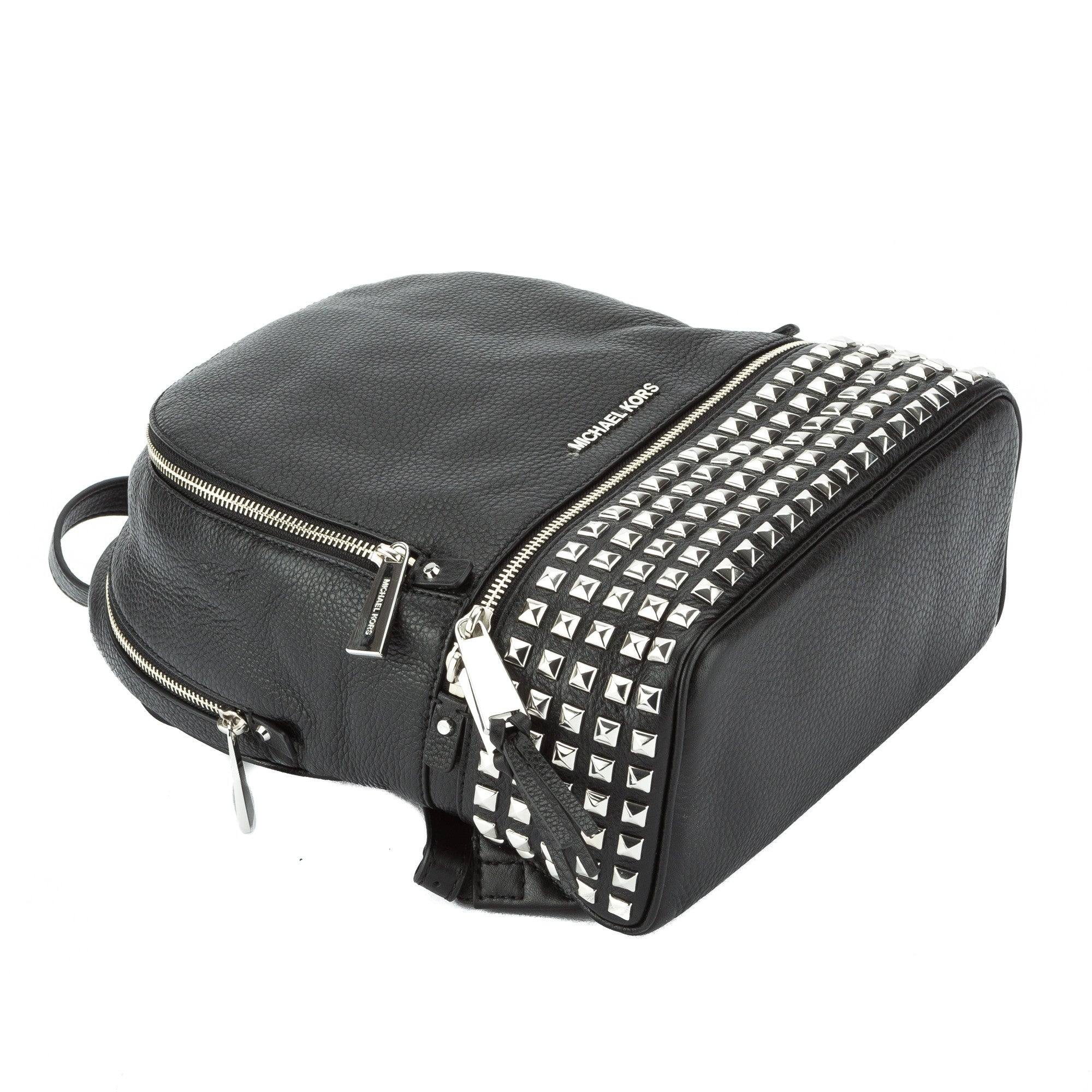02a2f875d294 Michael Kors Black Rhea Small Studded Leather Backpack (New with Tags) -  2923001 | LuxeDH