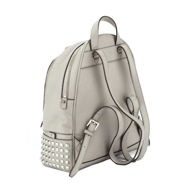 49cb8a213070 Michael Kors Grey Rhea Small Studded Leather Backpack (New with Tags) -  2923002