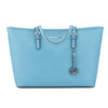 Michael Kors Baby Blue Jet Set Saffiano Multifunction Tote (New with Tags)