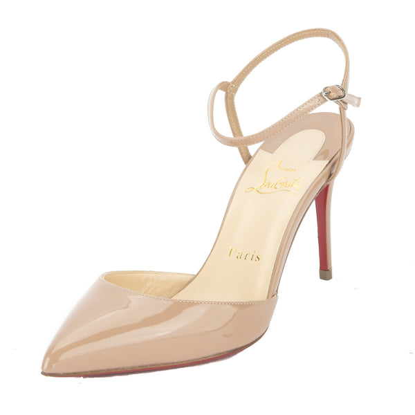 ac64b16ae68d Christian Louboutin Nude Patent Leather Rivierina Pump (New with ...