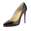 Christian Louboutin Black Patent Leather Tibur 100 Pump (New with Tags)