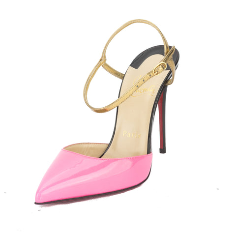 Christian Louboutin Pink Patent Leather Rivierina Pump (New with Tags)