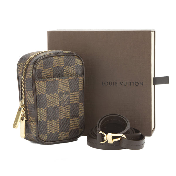 louis vuitton damier ebene etui okapi pm pouch pre owned. Black Bedroom Furniture Sets. Home Design Ideas