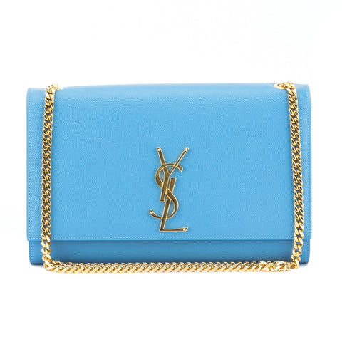 Saint Laurent Blue Classic Medium Kate Monogram Bag (New with Tags)