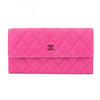 Chanel Pink Caviar Quilted Long Wallet (Pre Owned)
