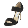 Jimmy Choo Black Suede Alana Sandal, Size 37 (New with Tags)