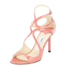 Jimmy Choo Coral Patent Leather Ivette Sandal, Size 37 (New with Tags)