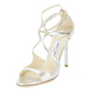Jimmy Choo Champagne Glitter Lang Sandal, Size 39 (New with Tags)