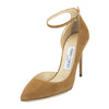 Jimmy Choo Tan Suede Lucy 100 Pump, Size 37.5 (New with Tags)
