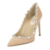 Valentino Tan Leather Rockstud Pumps, Size 36 (New with Tags)