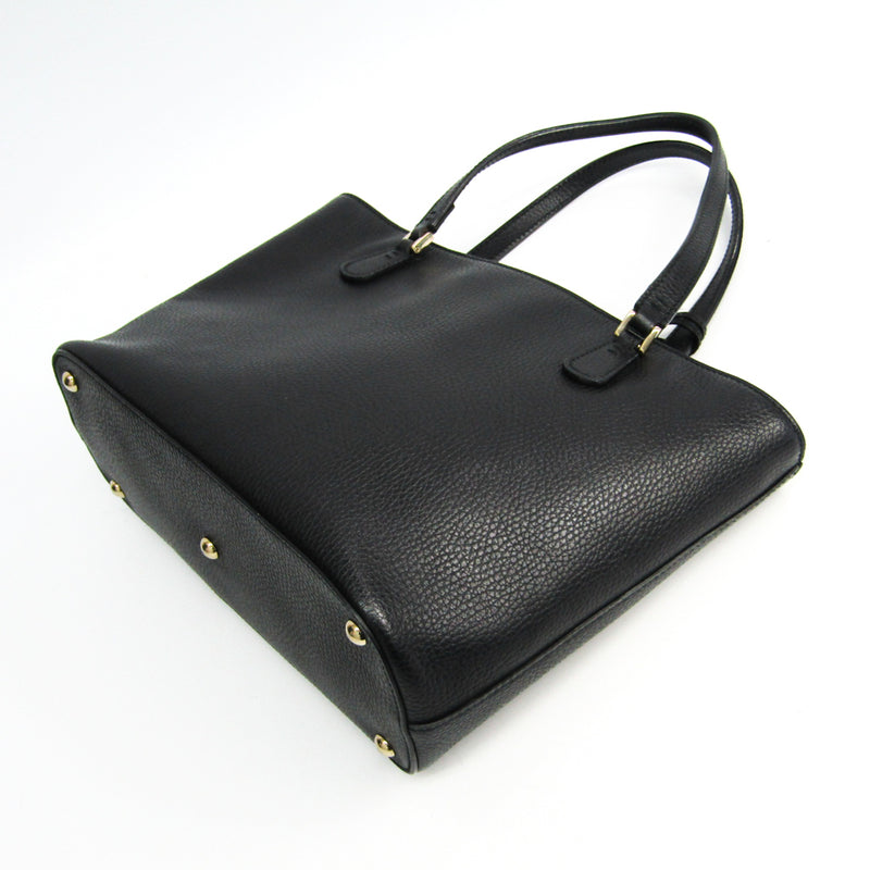 Gucci Black Leather GG Tote (SHA-36344)