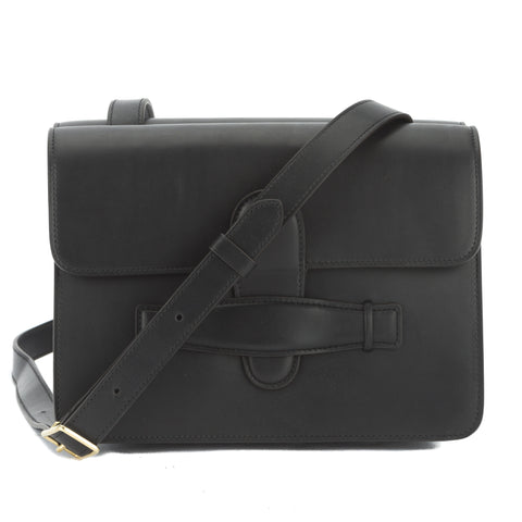 Celine Black Natural Calfskin Symmetrical Bag (New with Tags)
