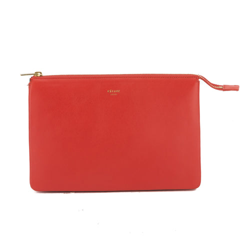 Celine Coral Solo Trio Cosmetic Pouch (New with Tags)
