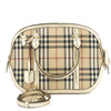 Burberry Beige Leather Horseferry Check Small Orchard Bag (New with Tags)