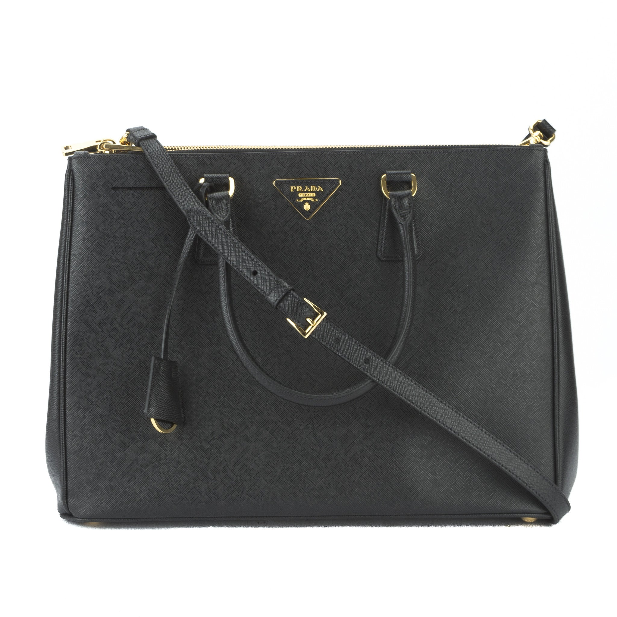 df9243f679ce0c Prada Black Saffiano Lux Large Galleria Bag (New with Tags ...
