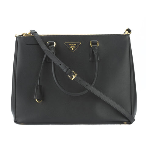 Prada Black Saffiano Lux Large Galleria Bag (New with Tags)