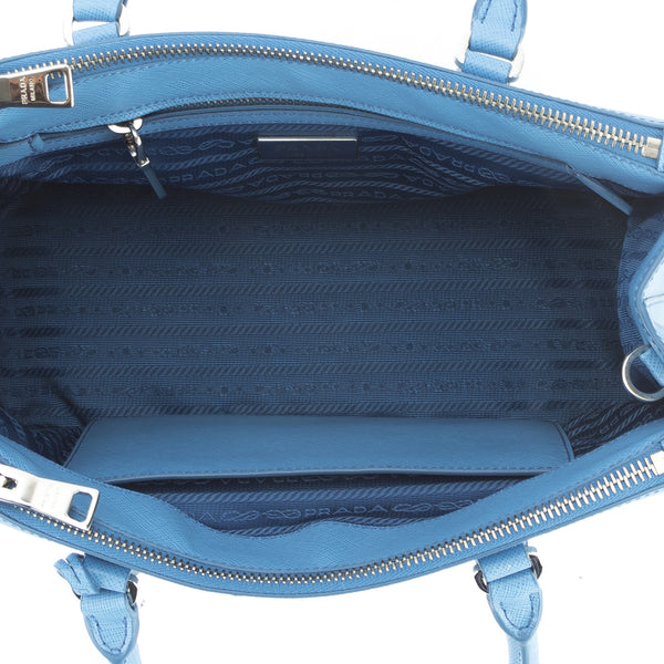 7ae6e24bdcfa Prada Cobalt Blue Saffiano Lux Mini Galleria Bag (New with Tags ...