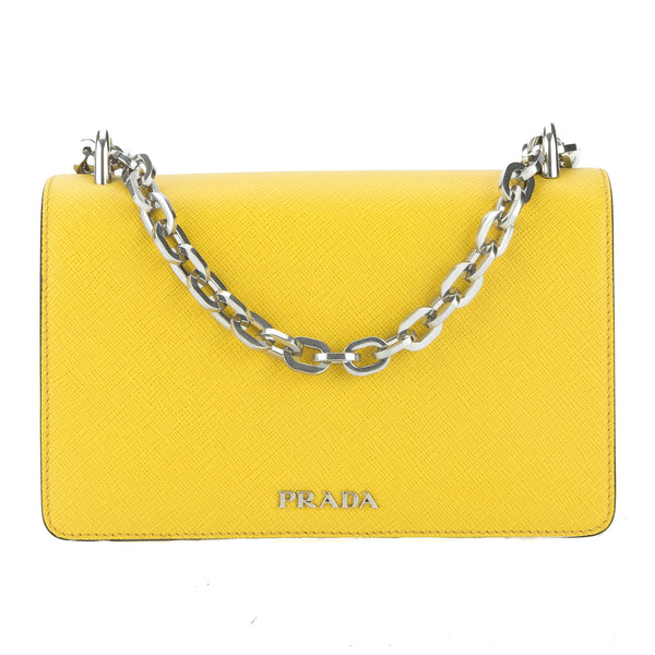 ffc42212fbfb Prada Yellow Saffiano Chain Shoulder Bag (New with Tags) - 3026006 ...