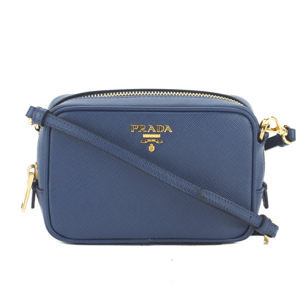 4ef1c9c791876a Prada Navy Blue Saffiano Camera Bag (New with Tags) - 3026008 | LuxeDH