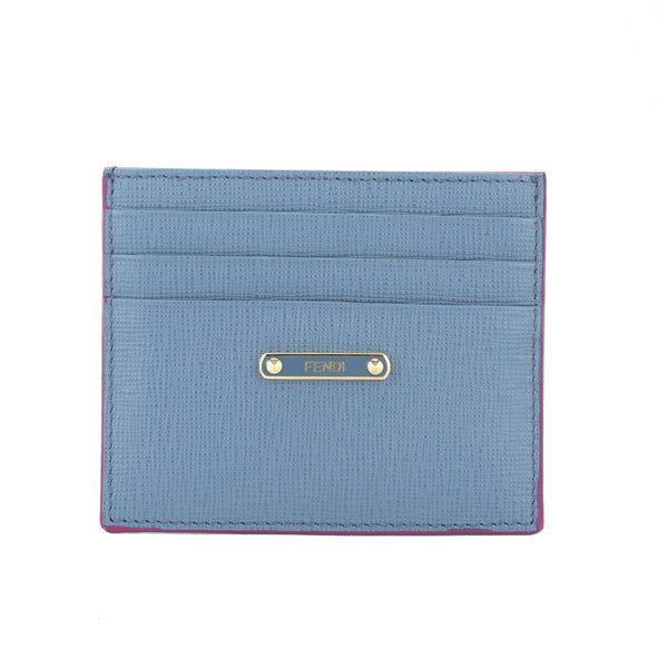 2e12d294e13 Fendi Light Blue and Pink 'Crayons' Leather Card Case (New with Tags ...