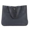 Prada Black Leather Vitello Diano Medium Open Wide Strap Tote Bag (New with Tags)