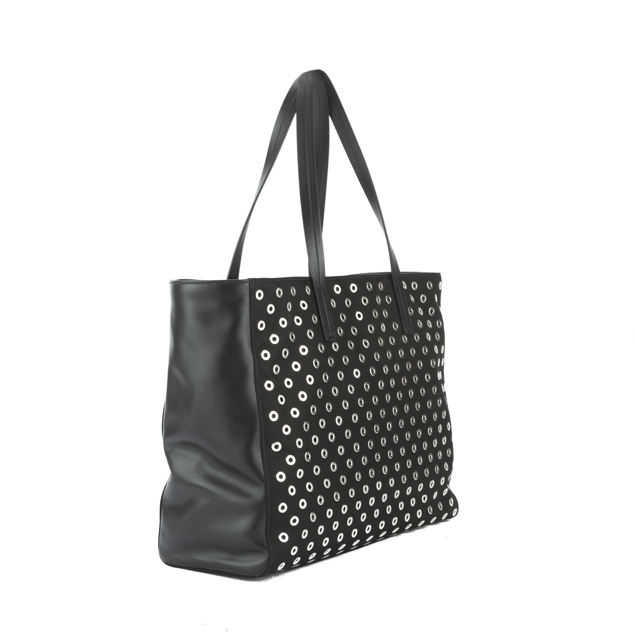80878b269439 Prada Black Nylon and Leather Tessuto Grommets Tote Bag (New with Tags -  3031002 | LuxeDH