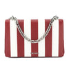Prada Red Saffiano Stripe Motif Shoulder Bag (New with Tags)