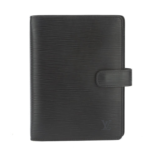 Louis Vuitton Black Epi Agenda MM Day Planner Cover (Pre Owned)