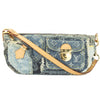 Louis Vuitton Blue Denim Patchwork Pouty Bag (Pre Owned)