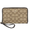 Coach Light Gold Jacquard Zip Around Organizer (New with Tags)