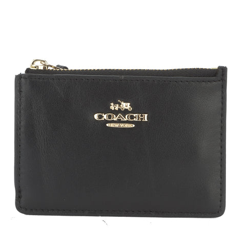 Coach Black Calfskin Mini Skinny ID Case (New with Tags)