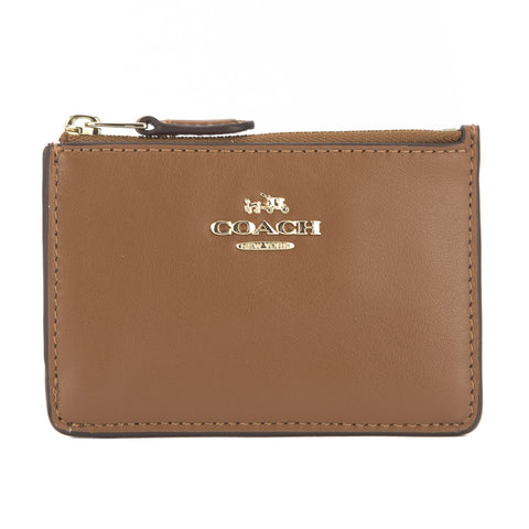 Coach Saddle Calfskin Mini Skinny ID Case (New with Tags)