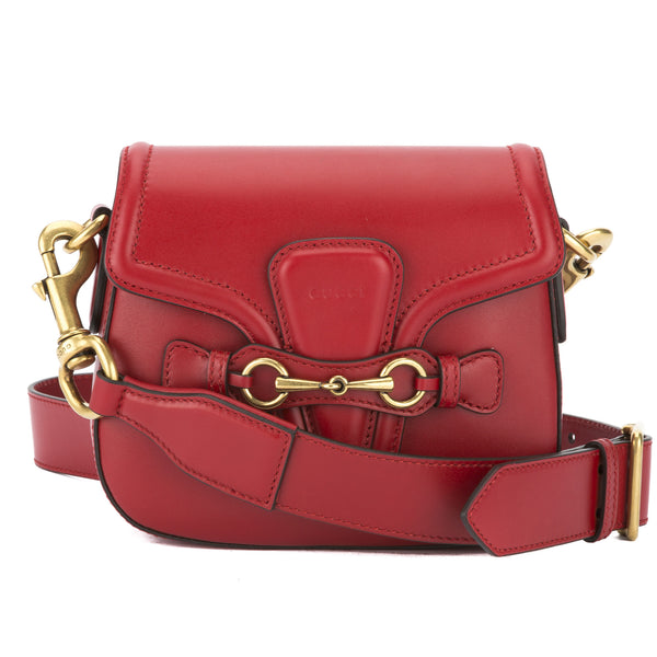 c6f60b86783d Gucci Hibiscus Red Leather Lady Web Shoulder Bag (New with Tags ...