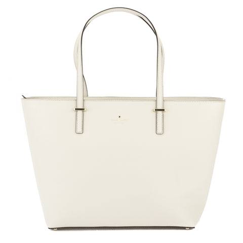 Kate Spade Crisp Linen and Cement Leather Cedar Street Medium Harmony Tote (New with Tags)