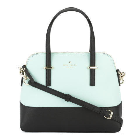 Kate Spade Crisp Linen and Cement Leather Cedar Street Maise Satchel (New with Tags)