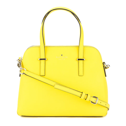 Kate Spade Solar Yellow Leather Cedar Street Maise Satchel (New with Tags)