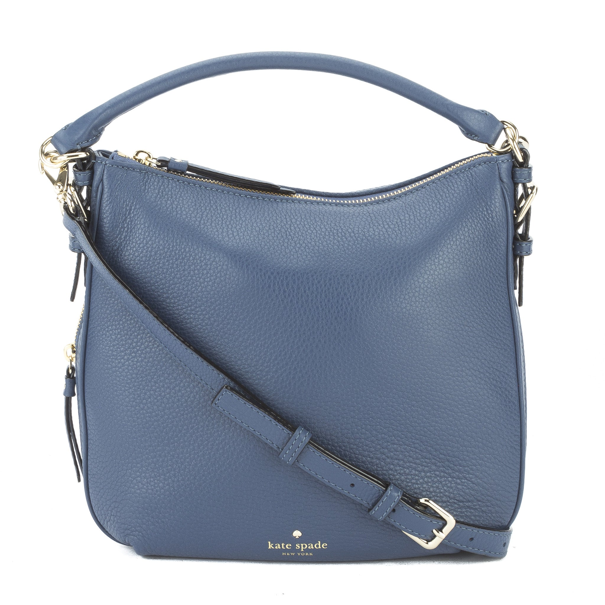 643650fa483c28 Kate Spade Moonlight Blue Leather Cobble Hill Small Ella Bag New with Tags
