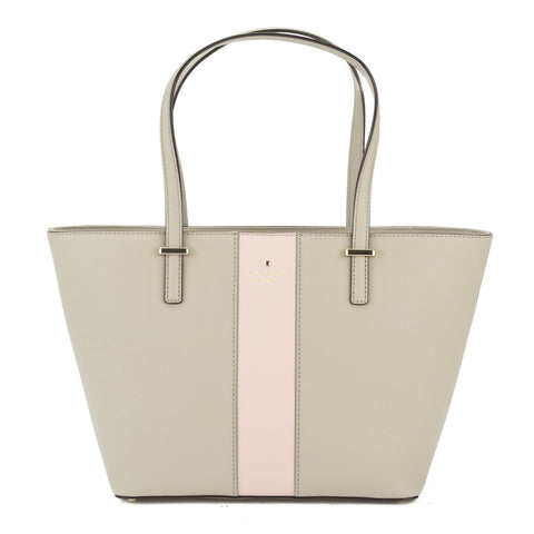 Kate Spade Clock Tower and Rose Jade Leather Cedar Street Racing Stripe Medium Harmony Tote (New with Tags)