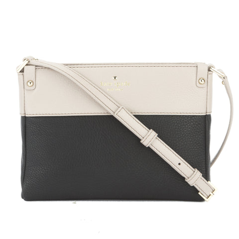 Kate Spade Black and Mousse Frosting Leather Summit Court Cooper Crossbody Bag (New with Tags)