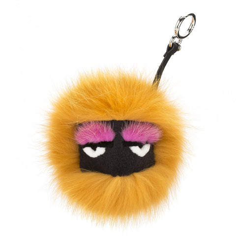 Fendi Orange Mixed Fur Bag Bug Charm (New with Tags)