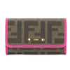 Fendi Brown Jacquard Zucca 6 Key Holder  (New with Tags)