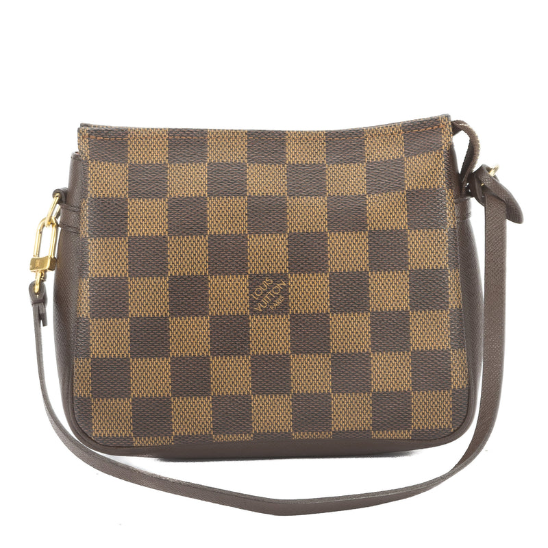 Louis Vuitton Damier Ebene Trousse Cosmetic Tote Bag (Pre Owned)