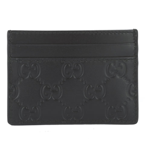 Gucci Black Leather Signature Card Case (New with Tags)