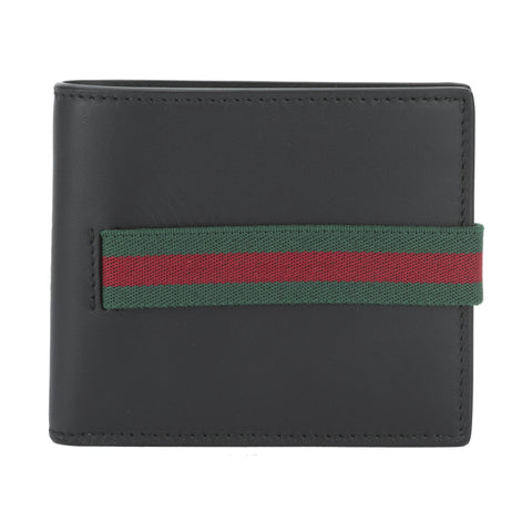 Gucci Black Leather Elastic Wallet (New with Tags)