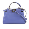 Fendi Blue Leather Micro Peekaboo Bag  (New with Tags)